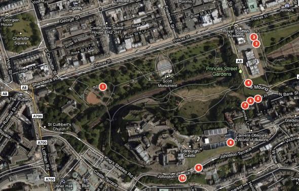 Lensbaby Photo Walk map